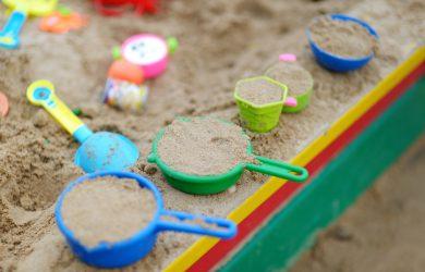 Some plastic sandbox toys
