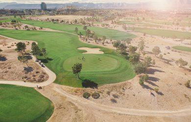 En golfbane.